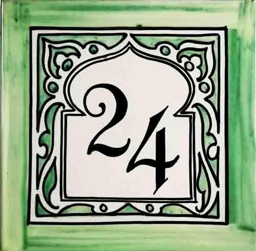 Número para casa árabe-andalusí - Cerámicas Artesur - 039-b