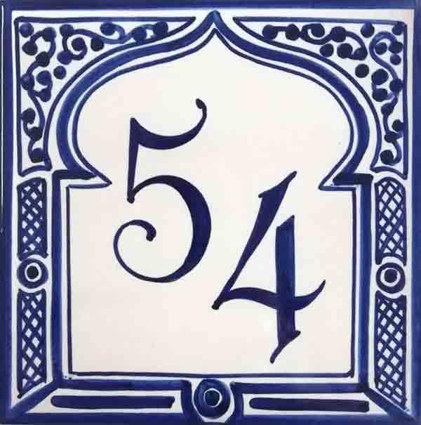 Número de casa estilo árabe Ref-040