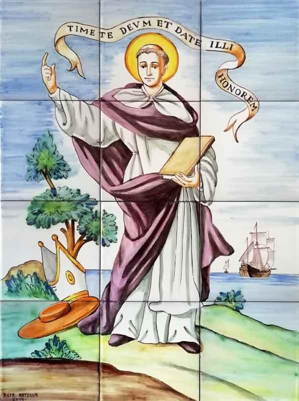 Mural azulejos de San Vicente Ferrer