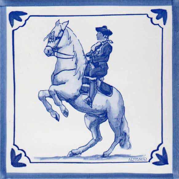Azulejos impresión calcográfica - Cerámicas Artesur - Caballo- cb-103-a