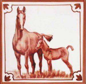 Azulejos impresión calcográfica - Cerámicas Artesur - Caballo- cb-103-M