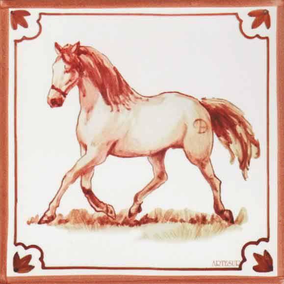 Azulejos impresión calcográfica - Cerámicas Artesur - Caballo- cb-104-M