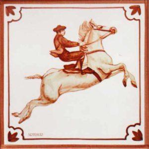 Azulejos impresión calcográfica - Cerámicas Artesur - Caballo- cb-108-M