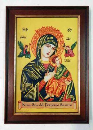 Azulejos impresión calcográfica - Cerámicas Artesur - Virgen del Perpetuo Socorro -CM