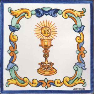 Replica azulejo antiguo - Caliz - pintado a mano- Cerámicas Artesur