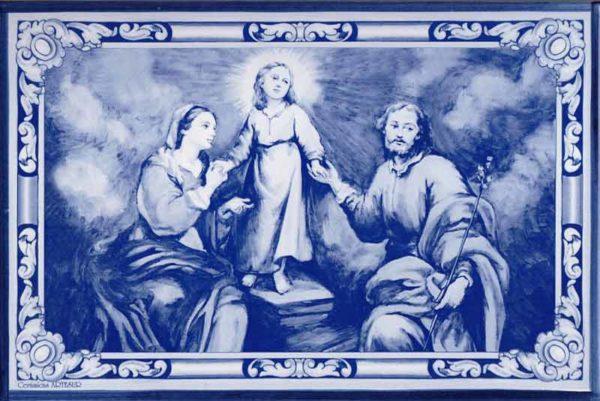 Azulejos impresión calcográfica - Cerámicas Artesur - Sagrada Familia de Murillo -SM