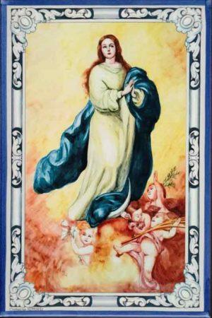 Azulejos impresión calcográfica - Cerámicas Artesur - Inmaculada Concepción - color -SM