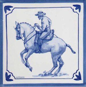 Azulejos impresión calcográfica - Cerámicas Artesur - Caballo- cb-106-a