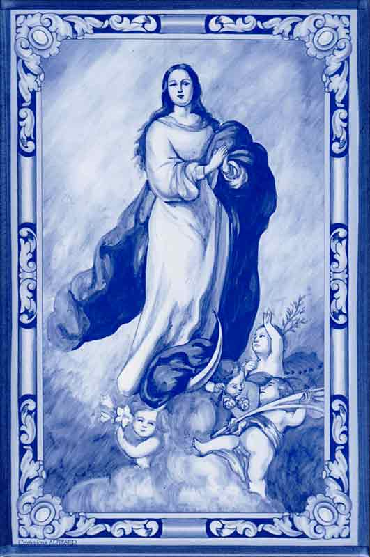 Azulejos de impresión calcográfica - Cerámicas Artesur - Religiosos-cat