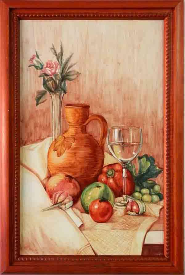 Azulejos pintados a mano - Cerámicas Artesur - Bodegón pintado a mano