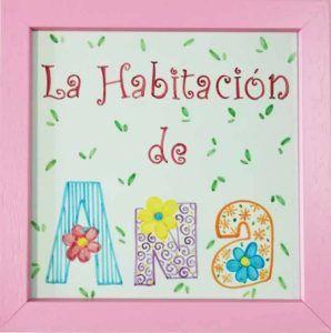 Azulejo pintado a mano - Cerámicas Artesur - Habitación infantil - niña- personalizado