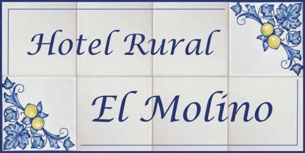 Azulejos artesanos pintados a mano en el estilo sevillano - Artesur - Azulejos para casas - Hotel rural El Molino - 635