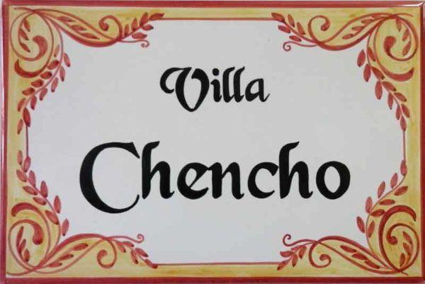 Azulejos artesanos pintados a mano en el estilo sevillano - Artesur - Azulejos para casas - Villa Chencho - 604-B