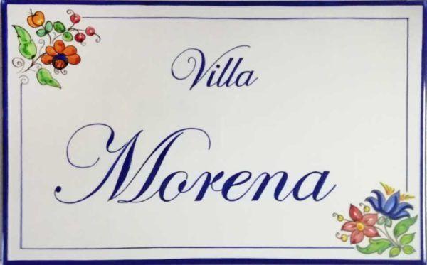Azulejos artesanos pintados a mano en el estilo sevillano - Artesur - Azulejos para casas - Villa Morena - 618-B