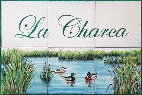 Azulejos artesanos pintados a mano en el estilo sevillano - Artesur - Azulejos para casas - La Charca - 623