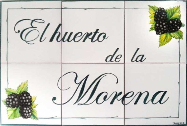 Azulejos artesanos pintados a mano en el estilo sevillano - Artesur - Azulejos para casas - Huerto de la Morena - 624