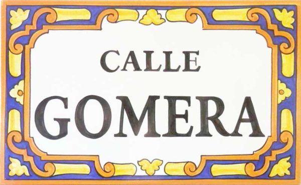 Azulejos artesanos pintados a mano en el estilo sevillano - Artesur - Azulejos para casas - Calle Gomera - 626