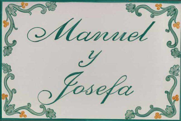 Azulejos artesanos pintados a mano en el estilo sevillano - Artesur - Azulejos para casas - Manuel y Josefa - 630