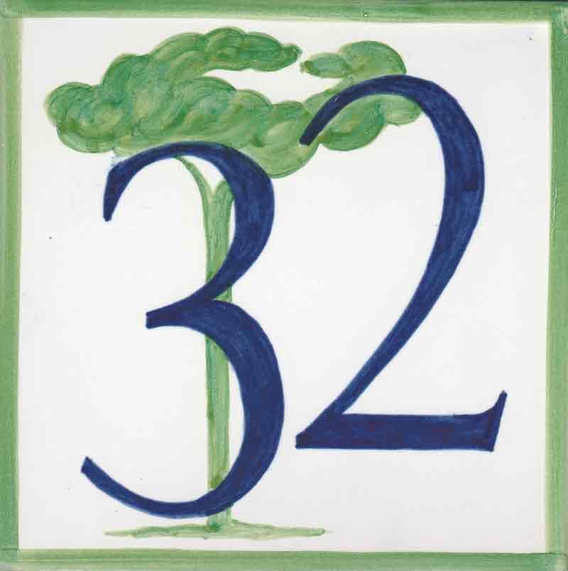 Azulejos sevillanos artesanos pintados a mano - Cerámicas Artesur -Número REF-34