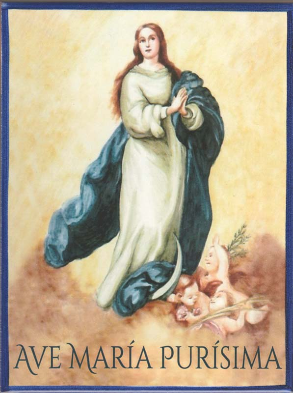 Ave María Purísima - Azulejo Impresión calcográfica - Cerámicas Artesur