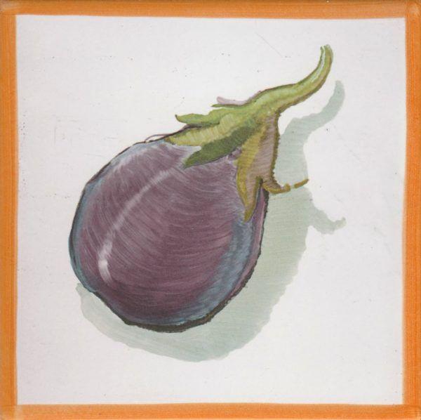 Azulejo económico de impresión calcográfica - azulejo con frutas y verduras - Cerámicas Artesur - Berenjena