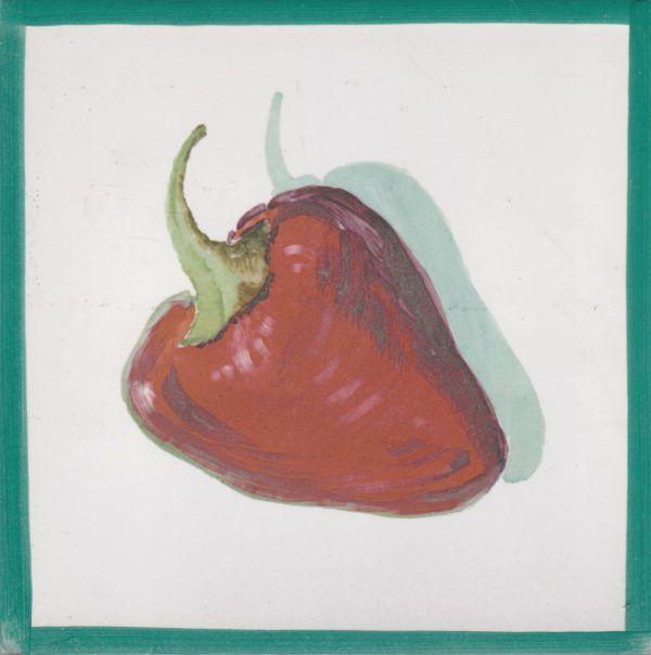 Azulejo económico de impresión calcográfica - azulejo con frutas y verduras - Cerámicas Artesur - Pimiento