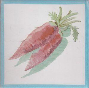 Azulejo económico de impresión calcográfica - azulejo con frutas y verduras - Cerámicas Artesur - Rábanos