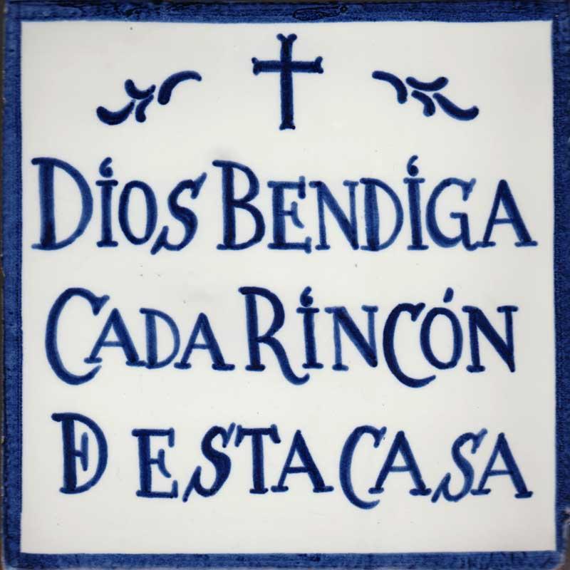 Azulejo leyenda Dios bendiga-estilo antiguo- Cerámicas Artesur-77127