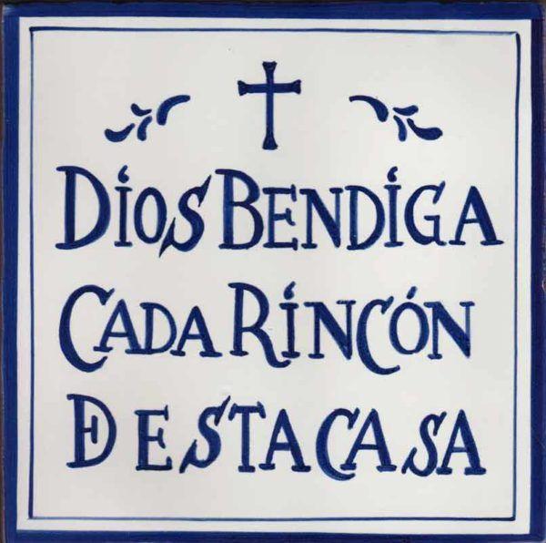 Azulejo leyenda Dios bendiga-estilo antiguo- Cerámicas Artesur-77128