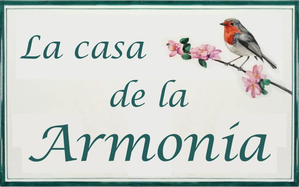 Azulejos sevillanos artesanos pintados a mano - Cerámicas Artesur - Azulejo con Rotulo- Ref 638