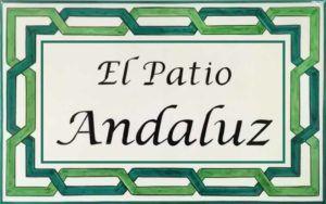 Azulejos sevillanos artesanos pintados a mano - Cerámicas Artesur - Azulejo con Rotulo- Ref 637