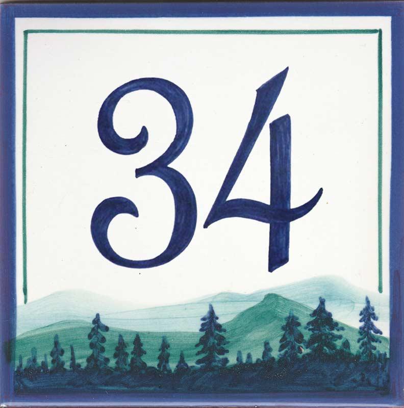 REF-059 Azulejo numero casa- Pintado a mano - Cerámicas Artesur