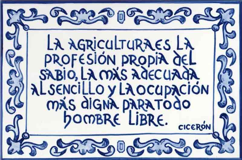 Azulejo-leyenda-agricultura-Cicerón-Cerámicas-Artesur-Ref-632-B