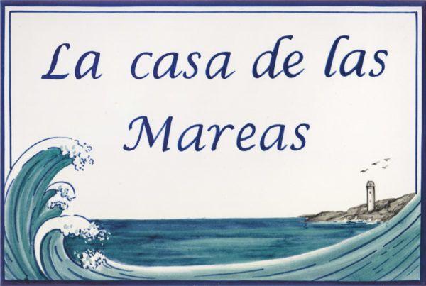 Azulejos sevillanos artesanos pintados a mano - Cerámicas Artesur - Azulejo con Rotulo
