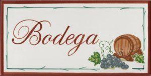 Azulejo con Ilustración de Bodega -14x28 cm - Cerámicas Artesur